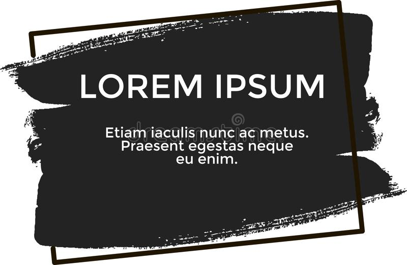 Sztandaru lorem ipsum, czarny kolor zdjęcie royalty free