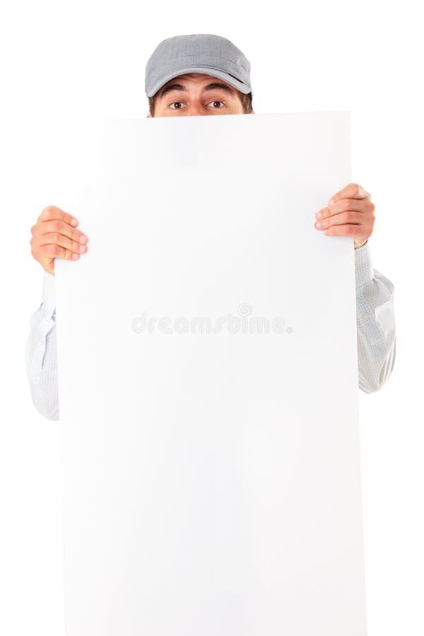 sztandaru mężczyzna zdjęcie stock
