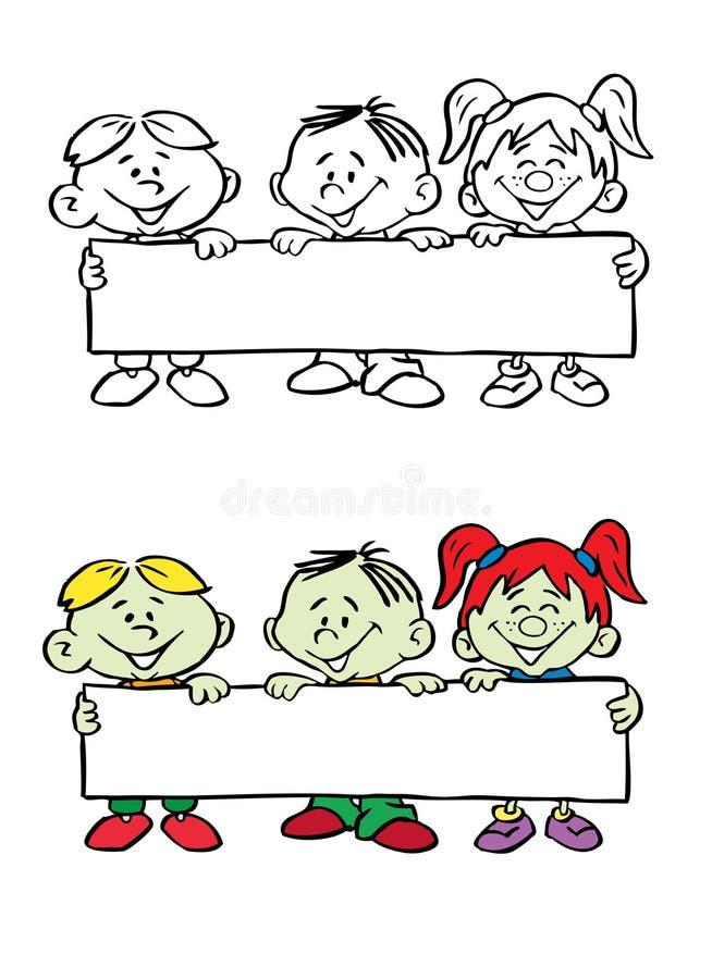 sztandaru mienia dzieciaków wektor ilustracji