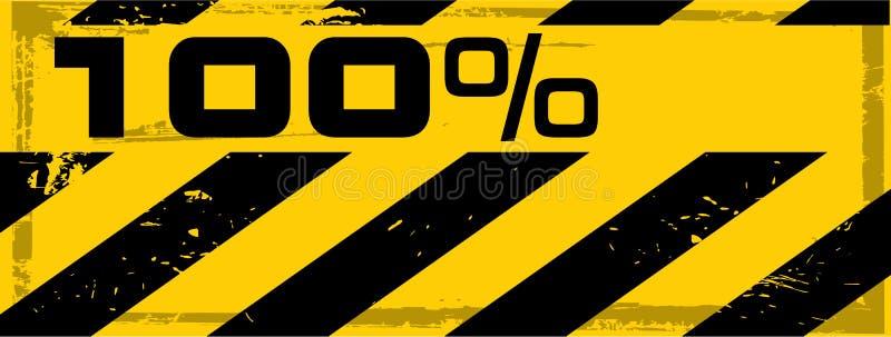 sztandaru niebezpieczeństwa grunge procentu wektor ilustracji