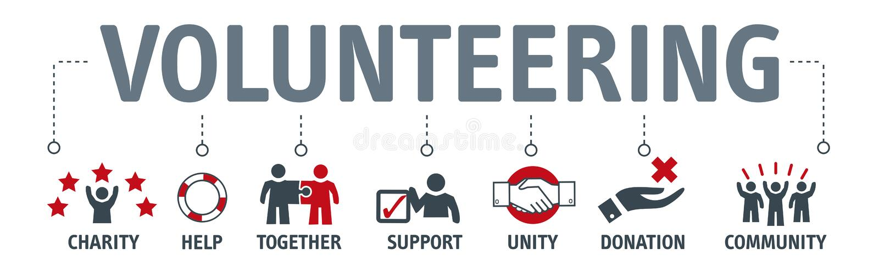 Sztandaru Ochotniczy Ochotniczy Zgłaszać się na ochotnika wektorowy pojęcie z ikoną ilustracja wektor