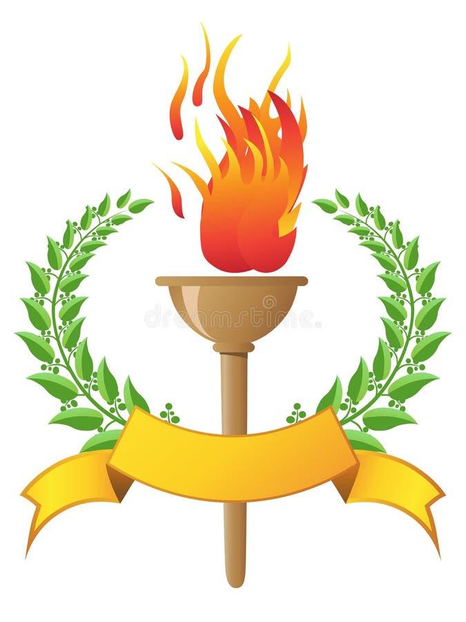 sztandaru płomienia pochodnia ilustracja wektor