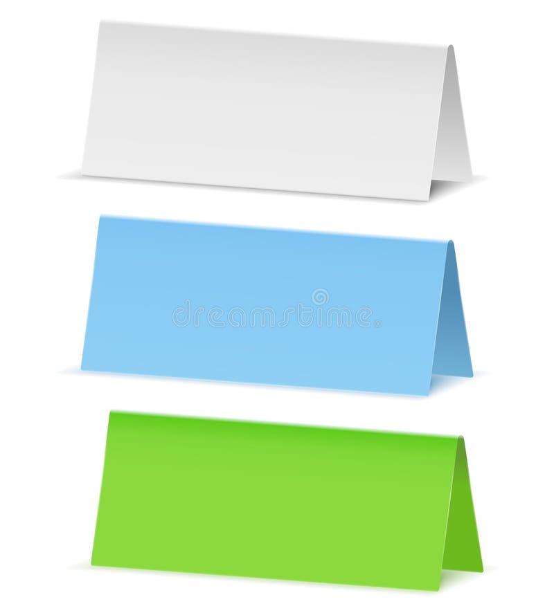 sztandaru papier ilustracja wektor