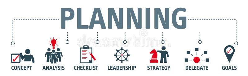 Sztandaru planistyczny pojęcie ilustracja wektor