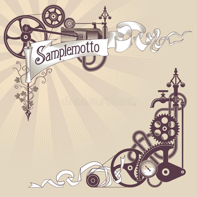 sztandaru projekta steampunk ilustracja wektor
