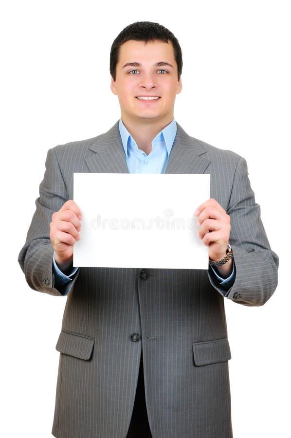 sztandaru puści mienia mężczyzna potomstwa obraz stock