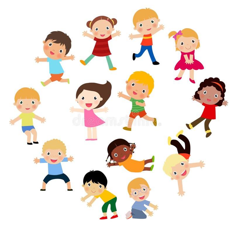 Download Sztandaru Pustego Miejsca Grupy Dzieciaków Znak Ilustracja Wektor - Ilustracja złożonej z human, ludzie: 57661783