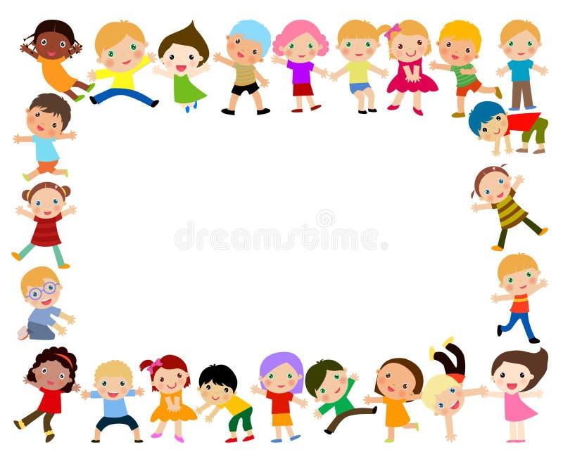 Download Sztandaru Pustego Miejsca Grupy Dzieciaków Znak Ilustracja Wektor - Ilustracja złożonej z ludzie, femaleness: 57661878