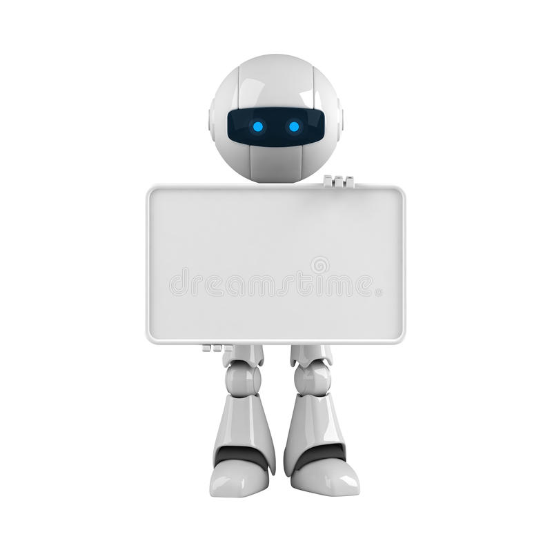sztandaru pusty robota pobytu biel ilustracja wektor