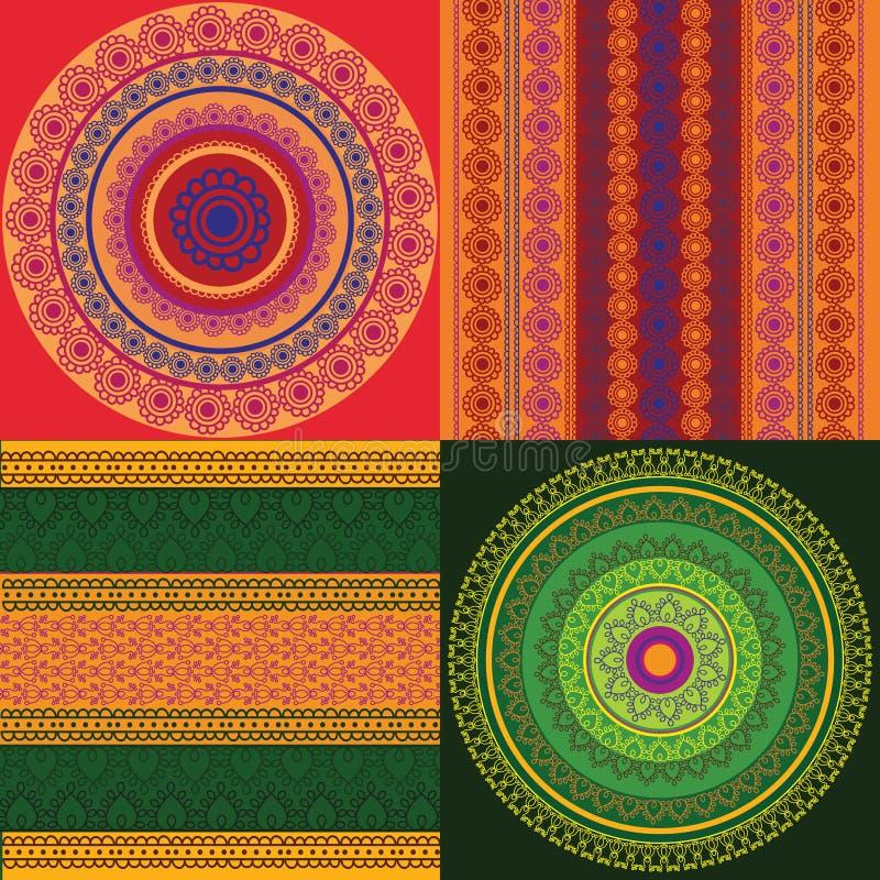 sztandaru rabatowy mandala target743_1_ royalty ilustracja