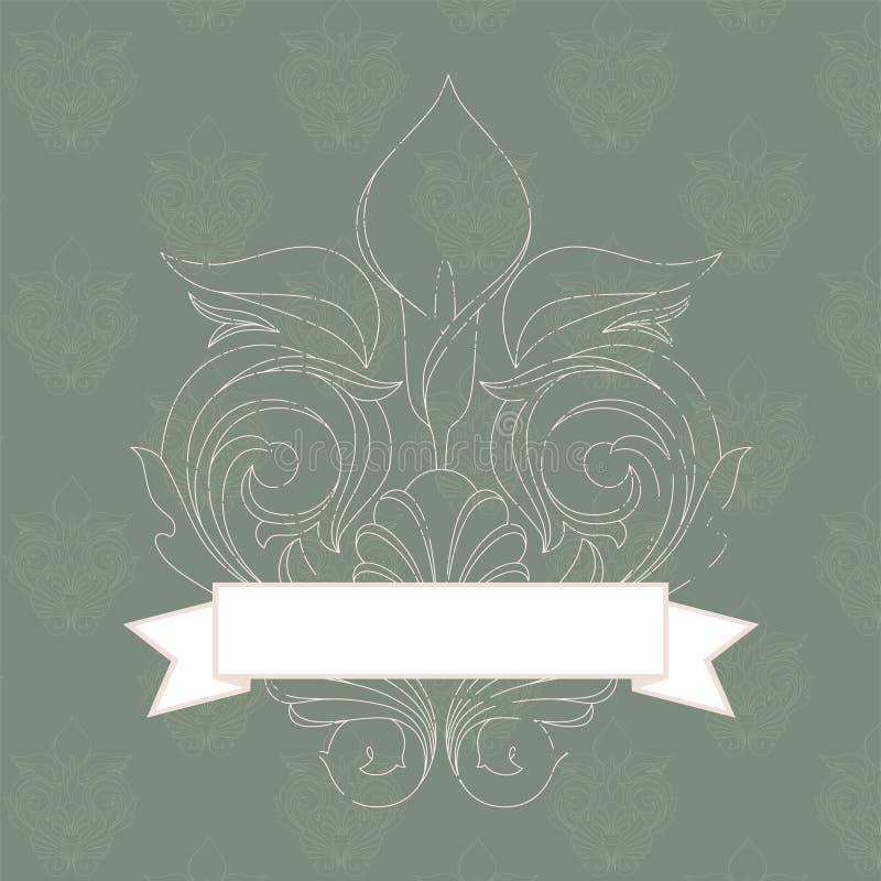 sztandaru rocznik royalty ilustracja
