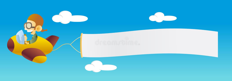 sztandaru samolot royalty ilustracja