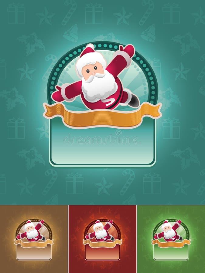 sztandaru Santa ustalony super royalty ilustracja