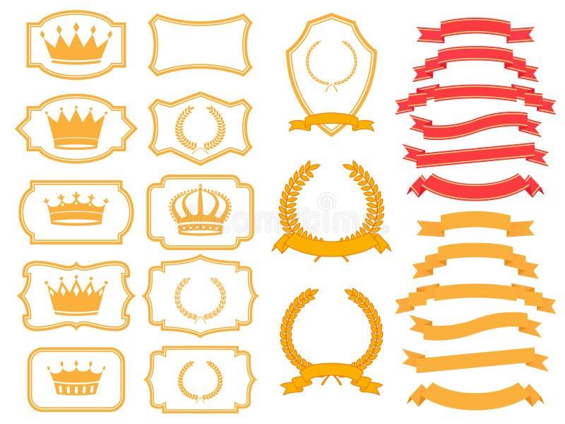 Sztandaru set royalty ilustracja