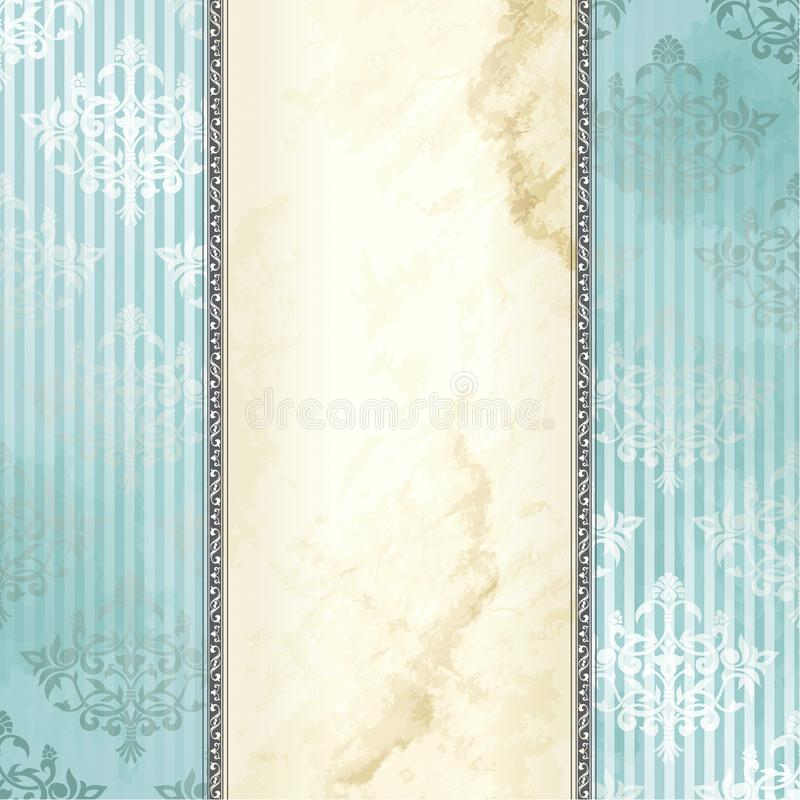 sztandaru srebny wiktoriański rocznik royalty ilustracja