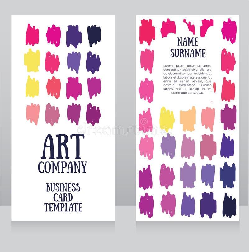 Sztandaru szablon z kolorowymi uderzeniami ilustracji