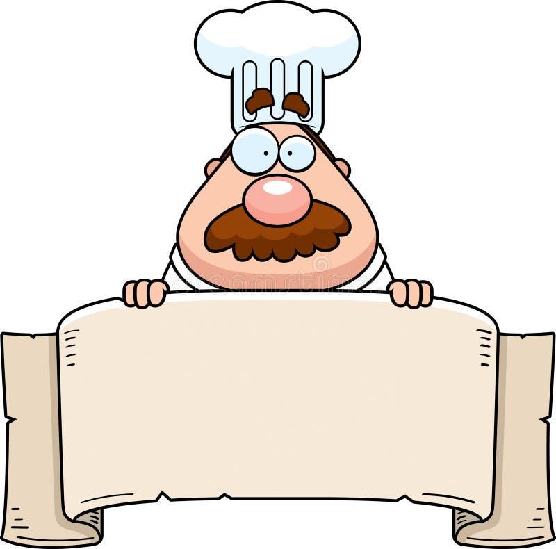 sztandaru szef kuchni royalty ilustracja