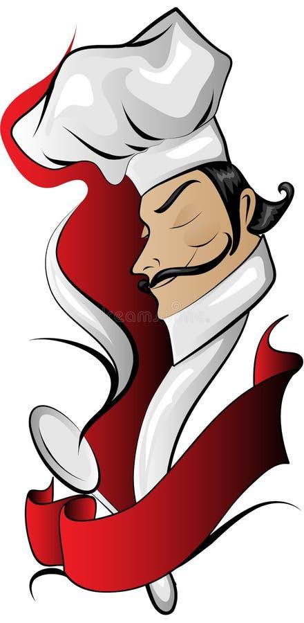 sztandaru szef kuchni logo ilustracji