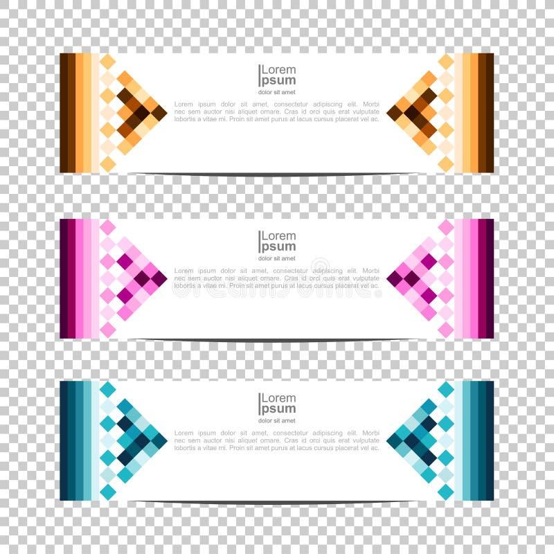 Sztandaru t?o Nowo?ytny szablonu projekt piksel, blok, siatka projekta sztandaru Wektorowy tło royalty ilustracja