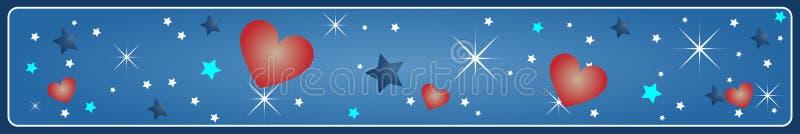 sztandaru valentine s ilustracji