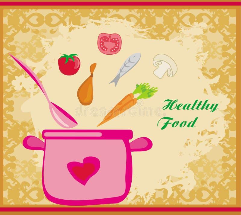 Sztandaru zdrowy jedzenie ilustracji