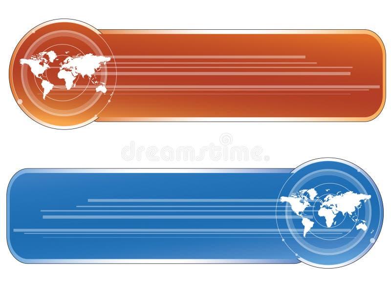 sztandary światu. ilustracja wektor