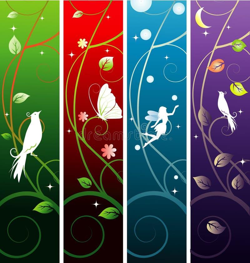 sztandary czarodziejscy ilustracji