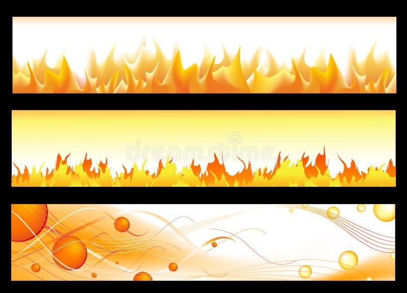 sztandary gorący ilustracja wektor