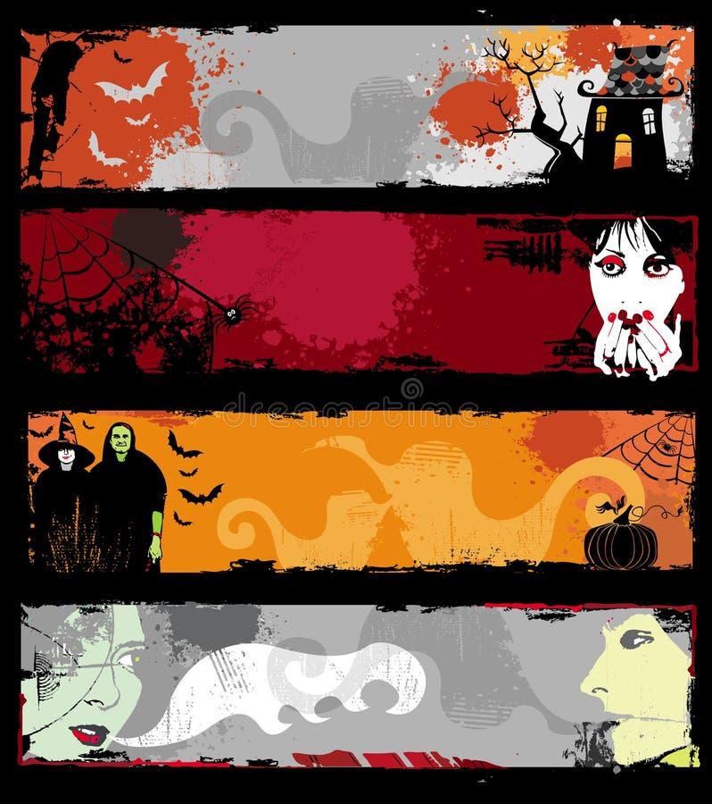 sztandary Halloween. ilustracji