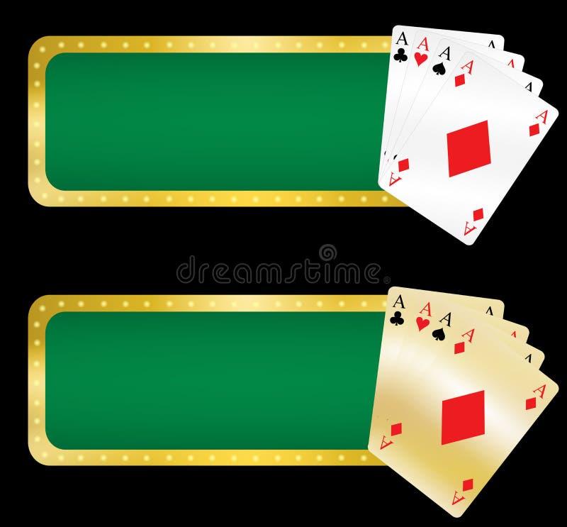 sztandary kasynowi royalty ilustracja
