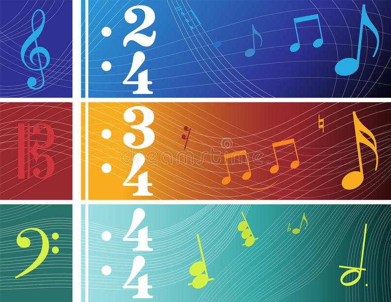Download Sztandary muzyczni ilustracja wektor. Ilustracja złożonej z grunge - 13332756