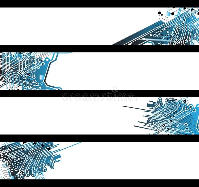 sztandary oddzielająca kształta technika ilustracji