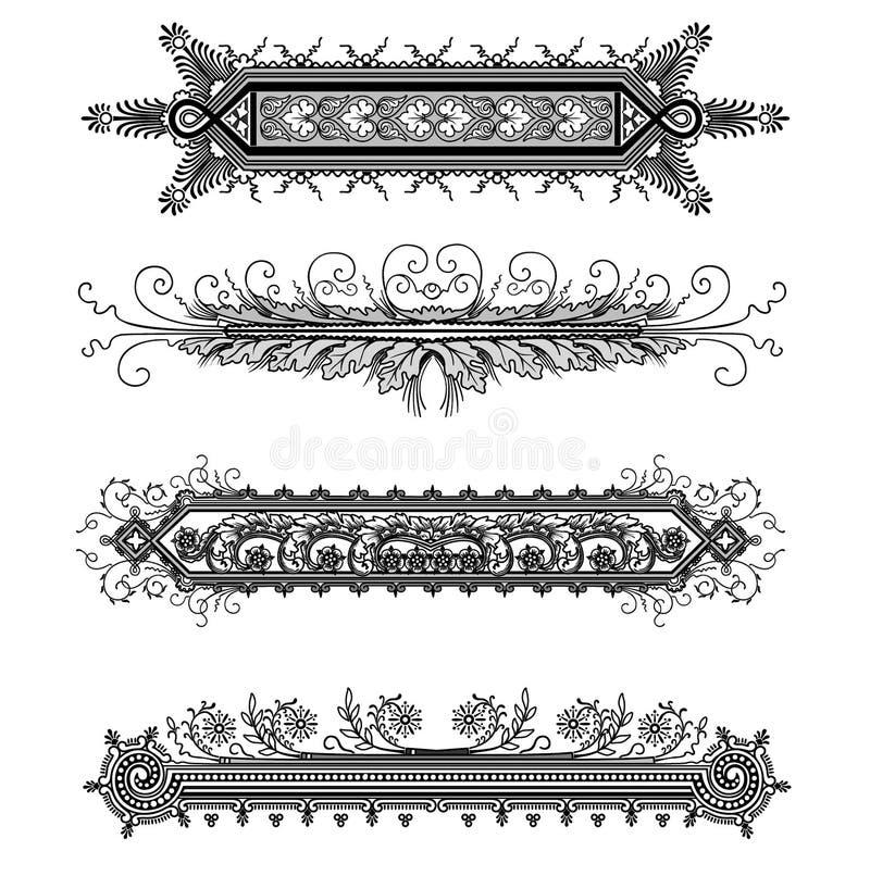 sztandary ozdobnych obraz royalty free