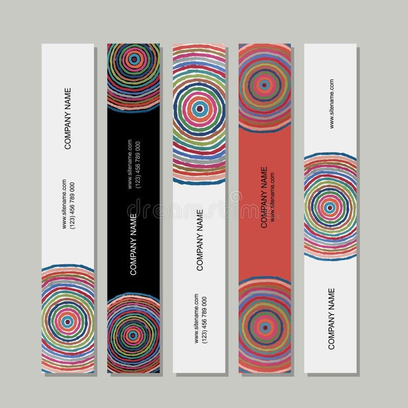 Sztandary ustawiający, abstraktów okregów projekt ilustracji