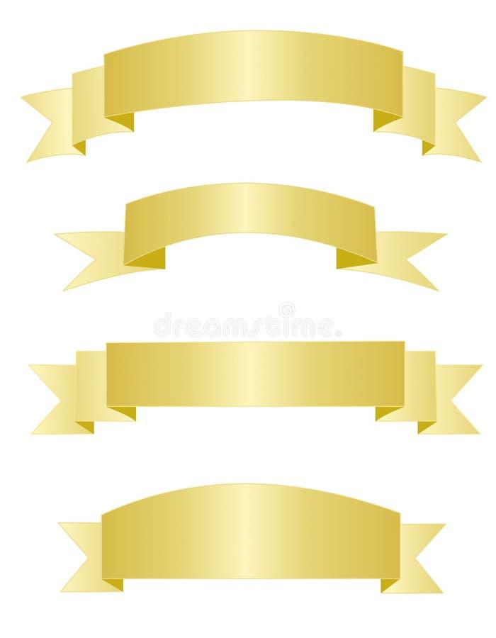 sztandary złociści royalty ilustracja