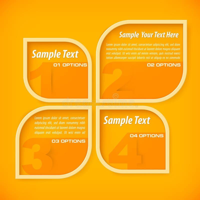 Sztandary z cztery opcjami ilustracji