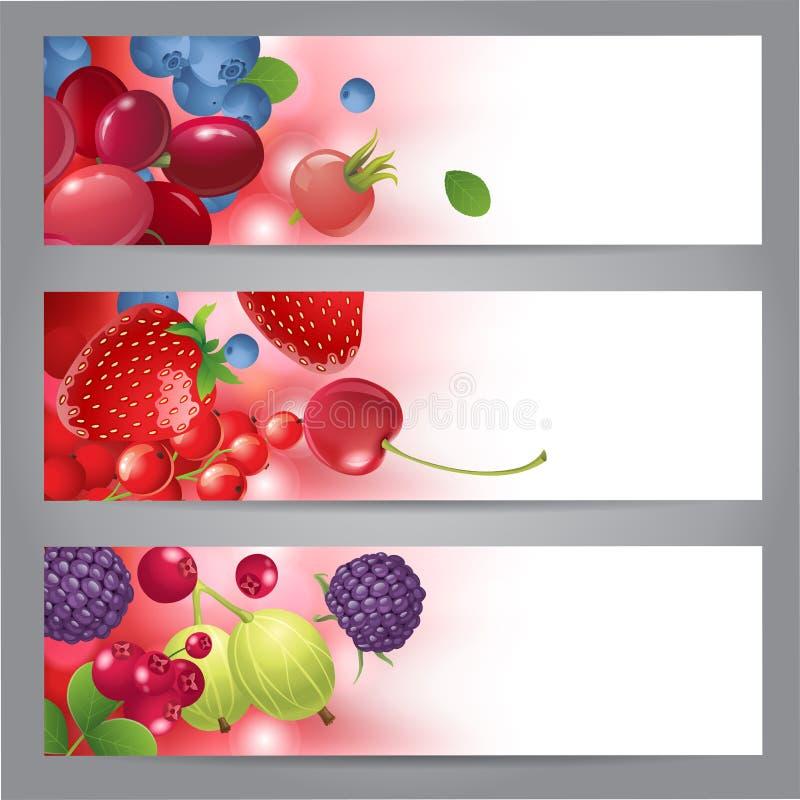 Sztandary z jagodami ilustracji