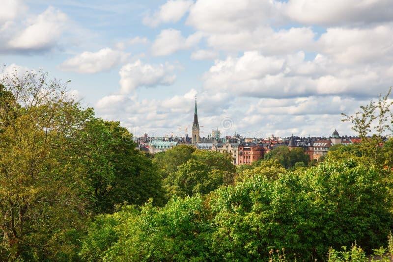 Sztokholm miasta widok zdjęcie royalty free