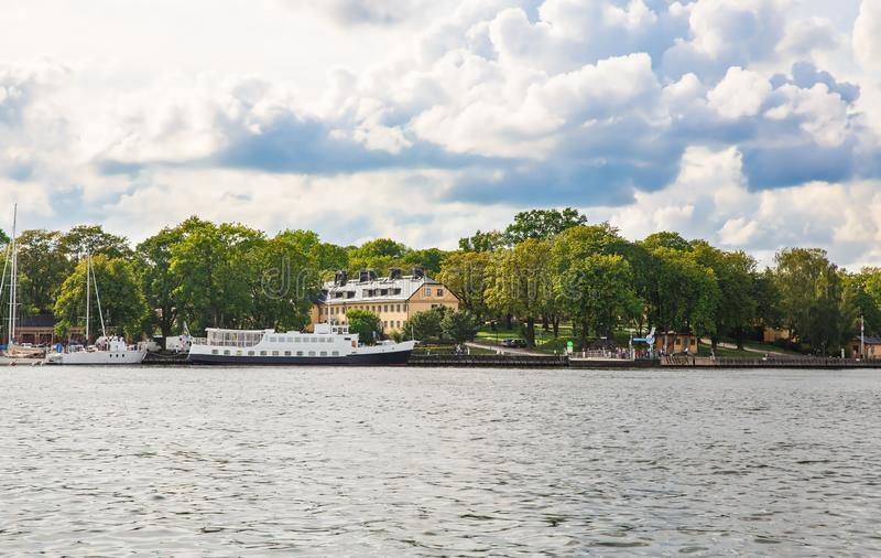 Sztokholm miasta widok zdjęcia royalty free
