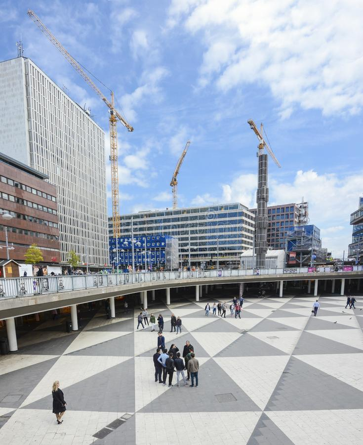 Sztokholm miasta widok na słonecznym dniu fotografia royalty free