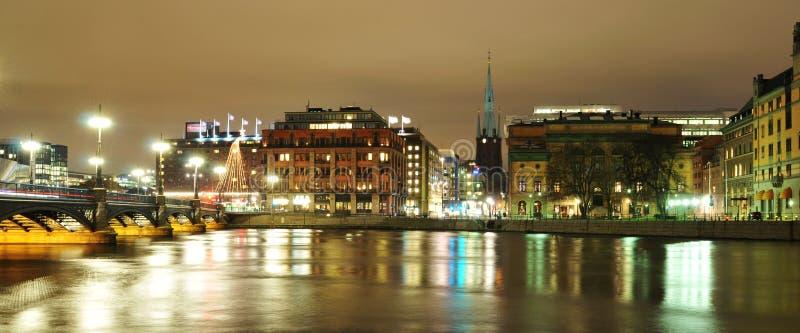 Sztokholm noc zdjęcia royalty free