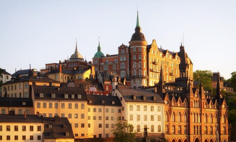 Sztokholm przy zmierzchem. obrazy royalty free