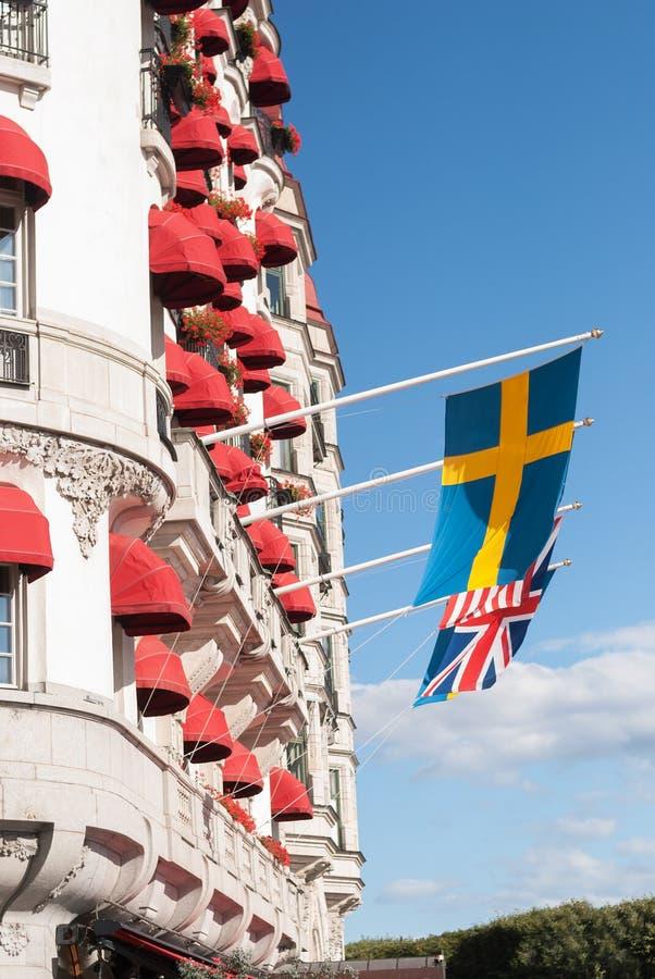 SZTOKHOLM, SWEDEN-Â 'SIERPIEŃ 21, 2017: Fasada Hotelowy dyplomata fotografia stock