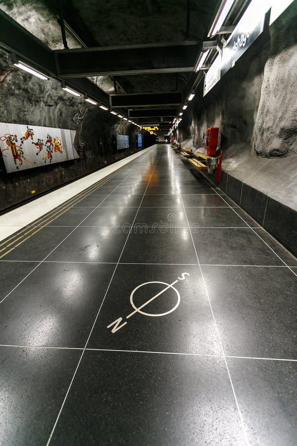 SZTOKHOLM, SZWECJA - 22 maja 2014 Dekoracja metra w Sztokholmie, Szwecja fotografia stock