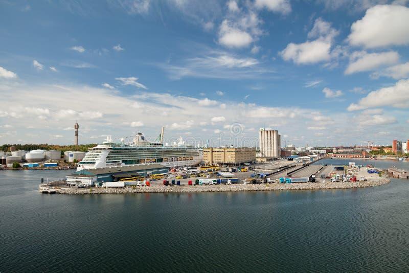 Sztokholm, Szwecja - promu terminal zdjęcie royalty free