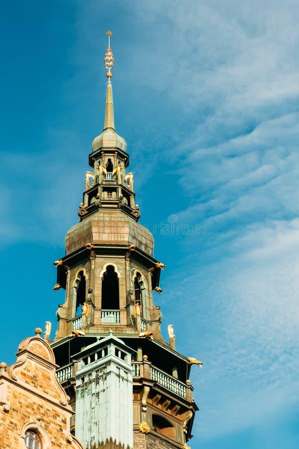 Sztokholm, Szwecja Sławny stary budynek - Północny zdjęcie stock