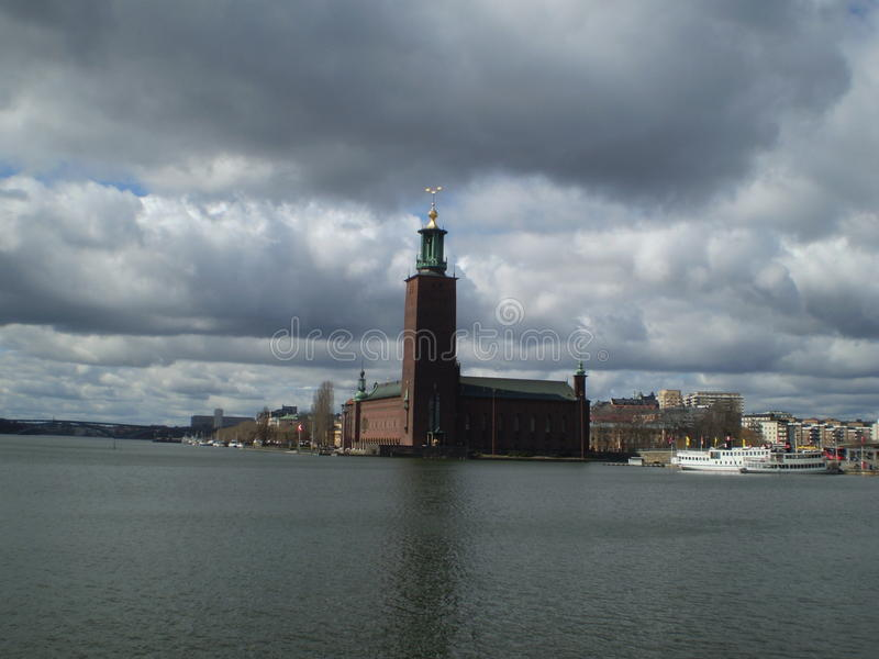 Sztokholm urząd miasta fotografia stock