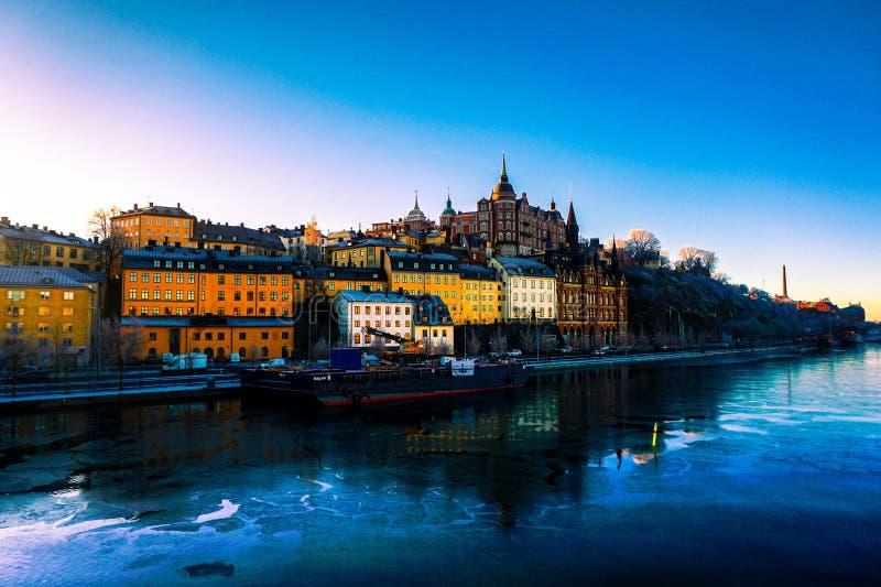 Sztokholm, widok na mieście fotografia royalty free