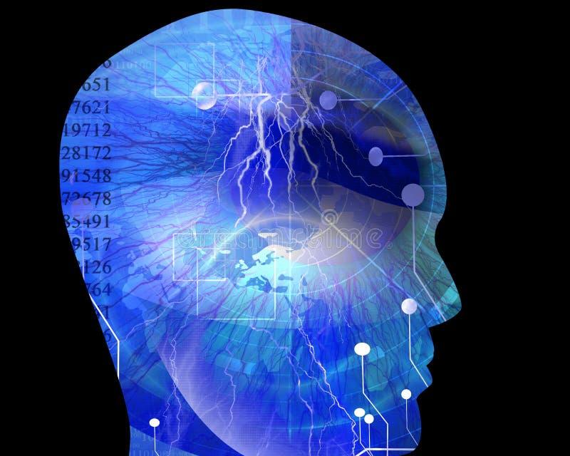 Sztuczna inteligencja royalty ilustracja