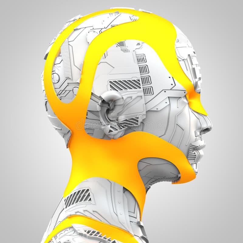 Sztuczna inteligencja i robotyka ilustracja wektor